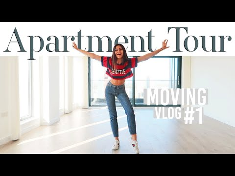 NEW LONDON APARTMENT TOUR | MOVING VLOG #1 | 2018