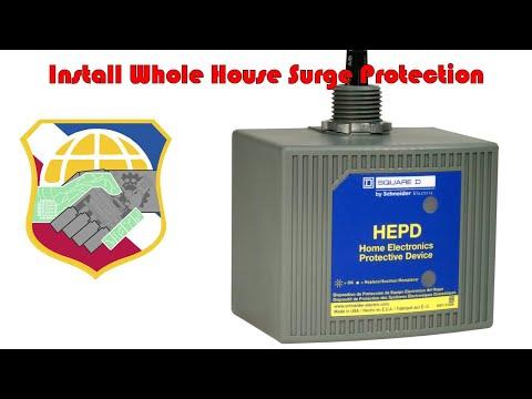 leviton 51120 1 whole house surge suppressor installation install whole house surge protection 4k square d hepd80 home electronics protective device