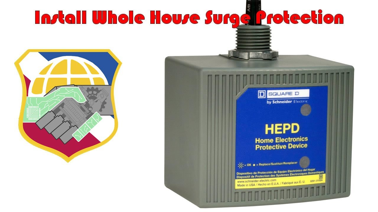 Install Whole House Surge Protection 4k Square D Hepd80 Home Electronics Protective Device