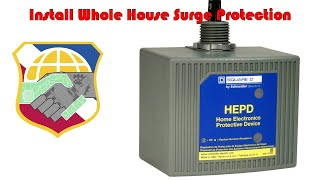 Install Whole House Surge Protection 4K - Square D HEPD80 Home Electronics Protective Device