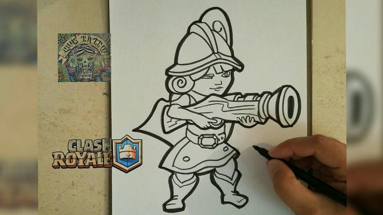 Dibujos Para Dibujar De Clash Royale: COMO DIBUJAR A LA MOSQUETERA