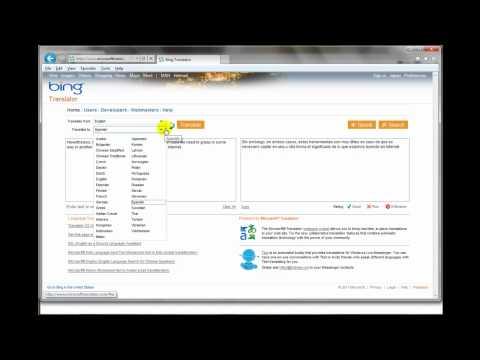 Bing Translator Demo
