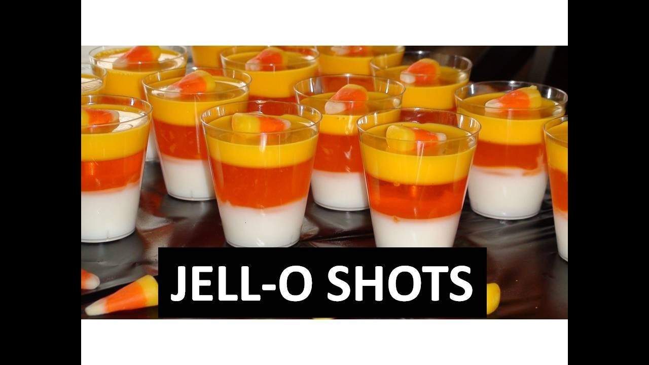 How To Make Candy Corn Jello Shots - YouTube