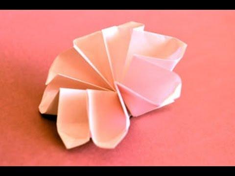 Origami 8 petal flower instructions origami fun youtube youtube premium mightylinksfo
