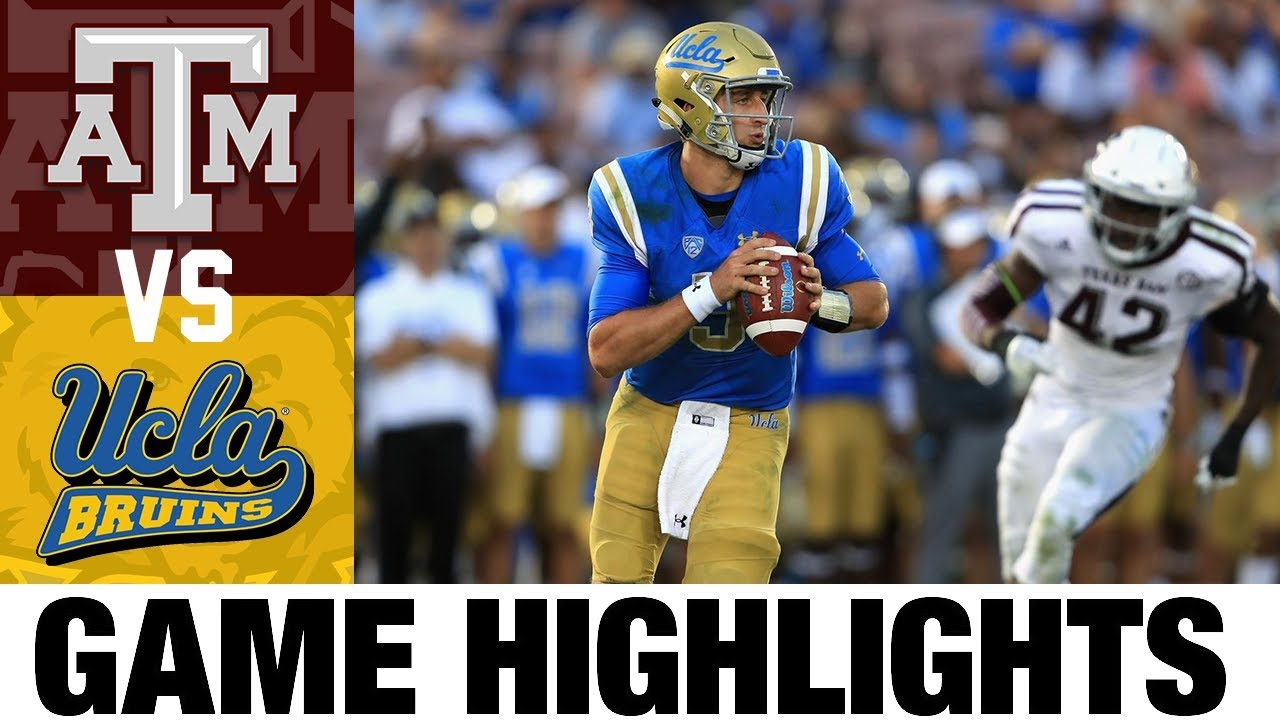 Texas A&M vs UCLA |  2017 College Football Highlights | 2010's Games of the Decade