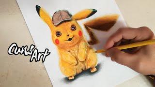 COMO DIBUJAR AL DETECTIVE PIKACHU | REALISTA | POKEMON | how to draw realistic detective pikachu