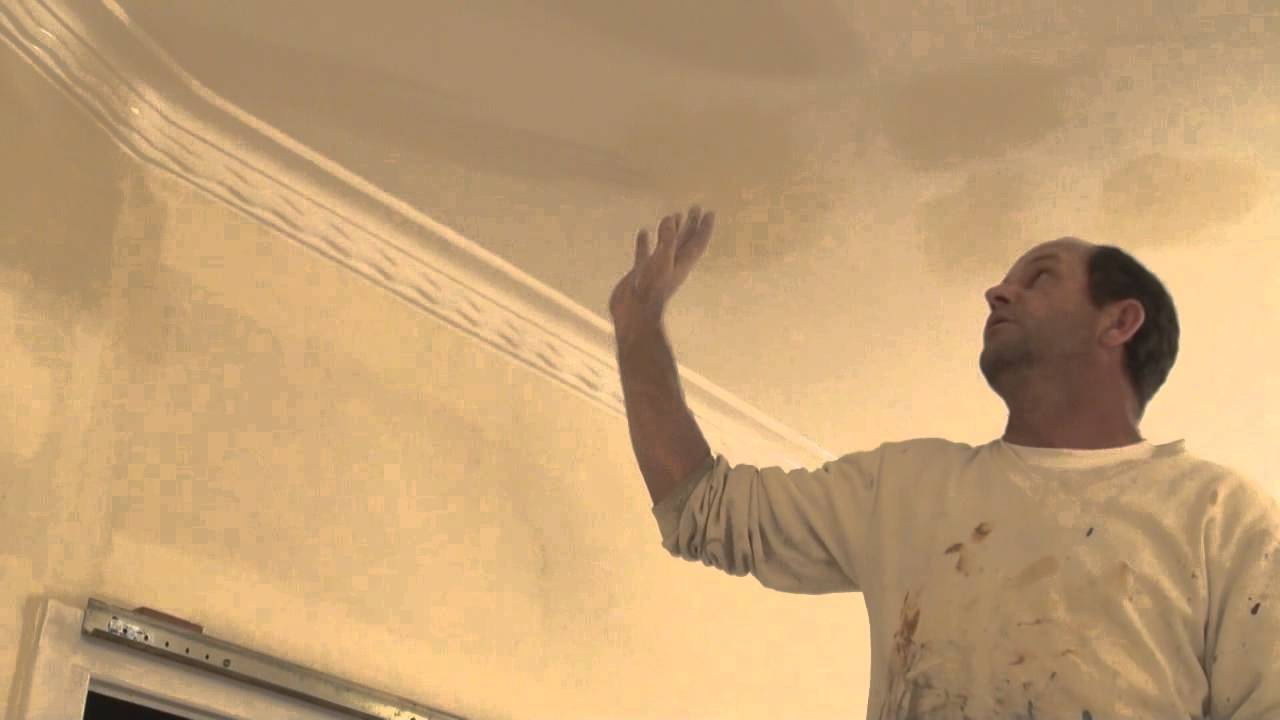 How To Paint A Water Damaged Or Smoke Stained Ceiling The Best Way Treat Badly You