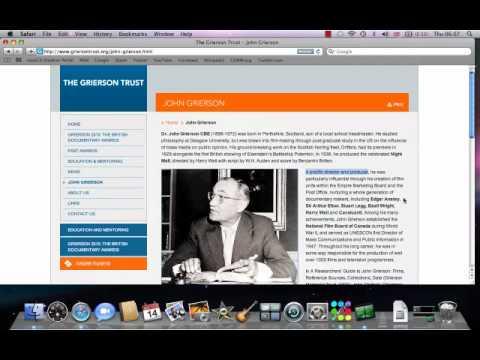 John Grierson Biography Presentation