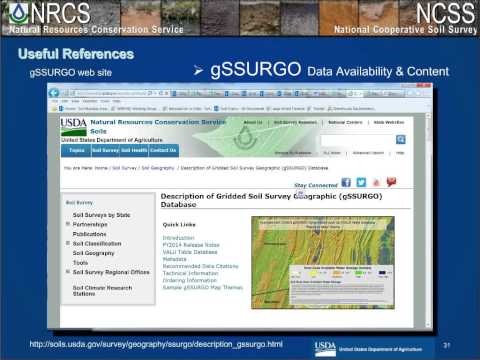Webinar - Working with the New FY2015 SSURGO and gSSURGO (10/2014)