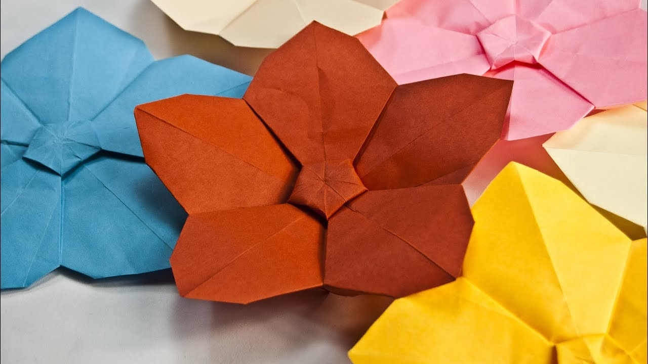 origami paper crafts ideas how to make a paper flower easy origami flowers paper 5053