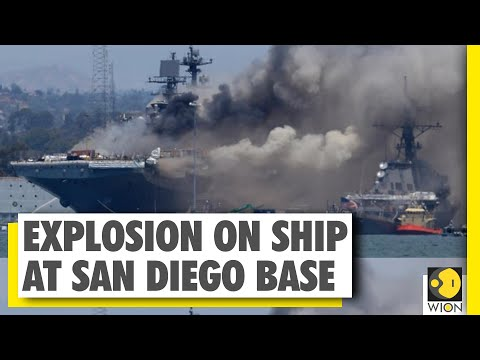 US News : Explosion on a ship at San Diego base | At least 21 injured | Latest Englsih News | Wion