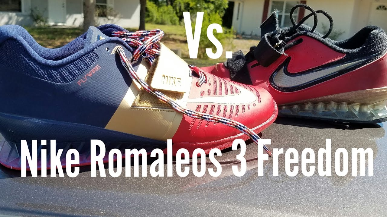 hot sale online 56c1d 5c8fb Nike Romaleos 3 Freedom Review and Comparisons