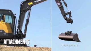 Volvo EC60E compact excavator promotional video