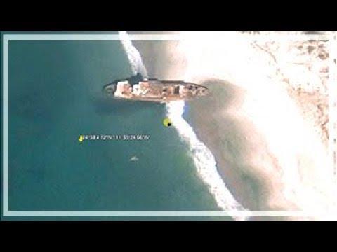 Shipwrecks on Google Earth with coordinates