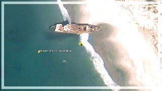Shipwrecks on Google Earth with coordinates Free HD Video