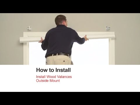 Bali Blinds | How to Install Wood Valances - Outside Mount