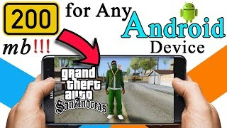Highly Compressed Gta San andreas for Android (200 mb)