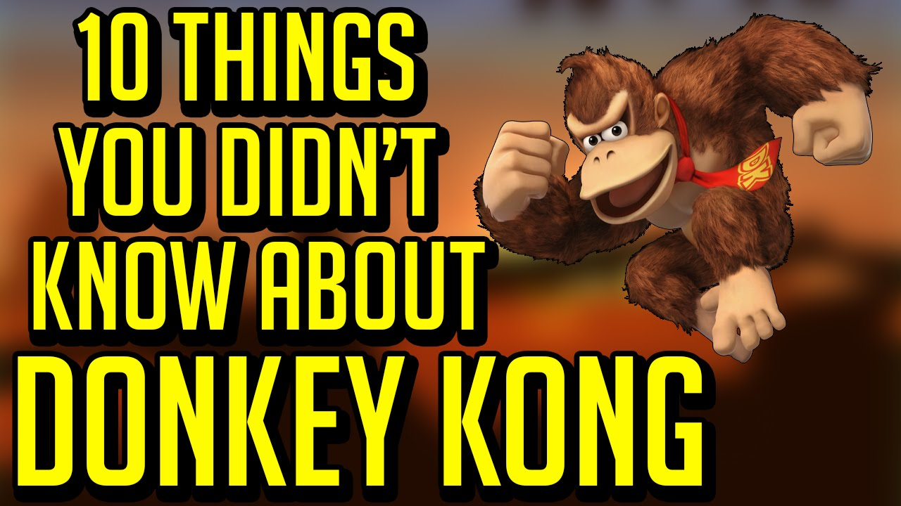 10 Things You Didn't Know About Donkey Kong - YouTube