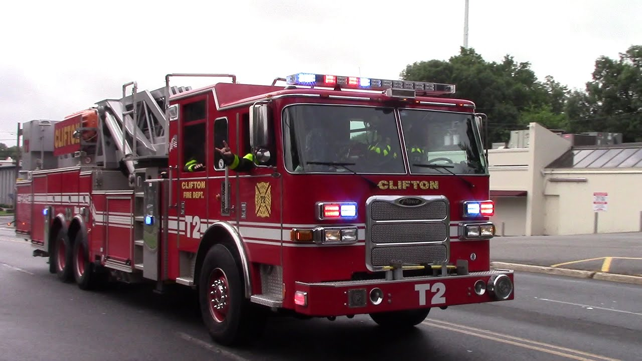The Best Of Clifton Fire Truck 2 And Engine 5 Responding
