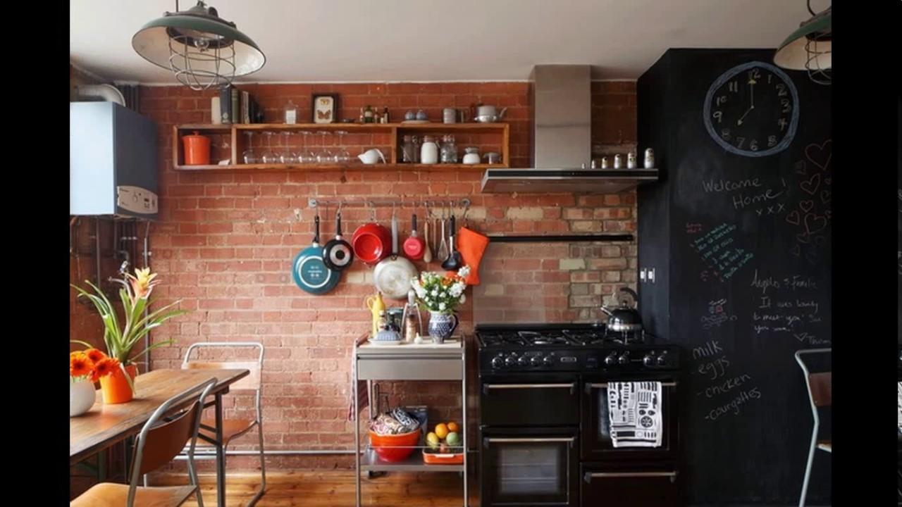Exposed Brick Kitchen Design You