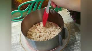 Салат с курицей и крабовыми палочками НАША СЕМЬЯ
