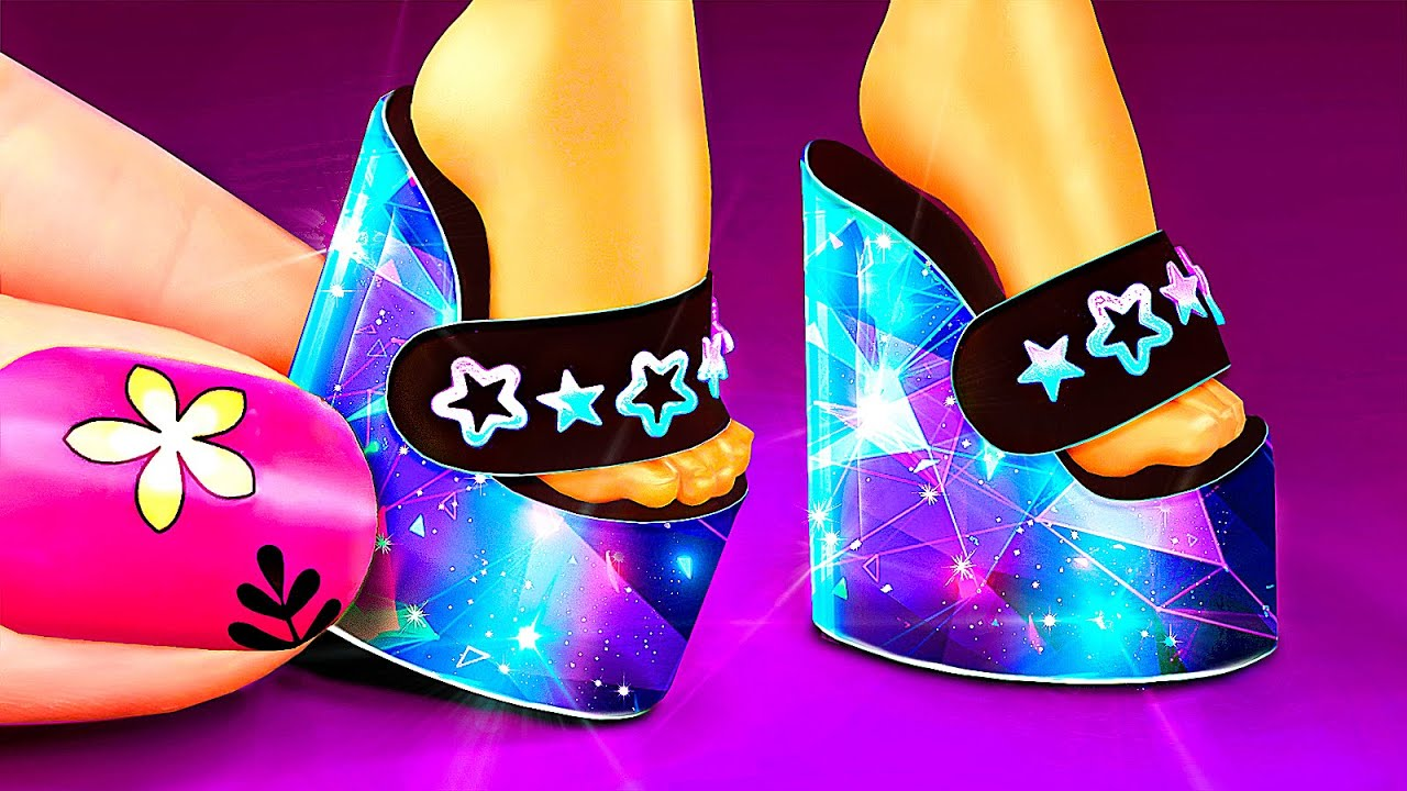 22 Unreal Barbie and LOL OMG crafts. DIY Miniature Space Digital Shoes and more