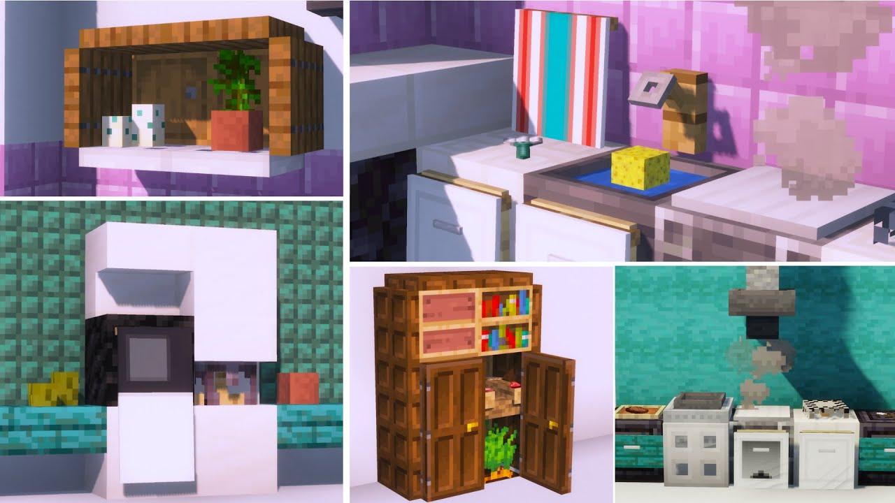 Minecraft: 40+ Kitchen Build Hacks and Ideas 1.16 - YouTube