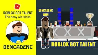 BENCADENC WON THE COMPETITION IN ROBLOX GOT TALENT