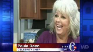 Paula Deen Hit by Ham, 6abc Action News thumbnail