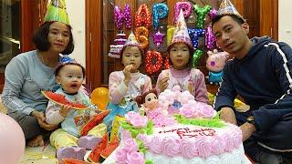 Happy birthday to baby song with birthday cake and many color toys & Nursery rhymes for babies & kid