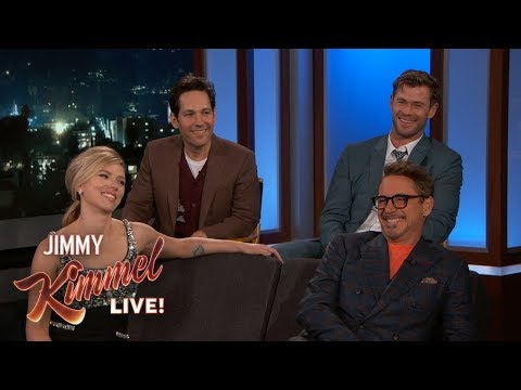 Avengers Cast on Premiere Favorite Lines Matching Tattoos & Birtay Gifts
