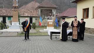 Dezvelirea bustului lui Ionel Pop la Sugag, discurs primar Constantin Jinar, 14 noiembrie 2018