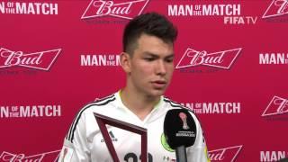 Hirving Lozano: FIFA Man of the Match - Match 9: Mexico v Russia