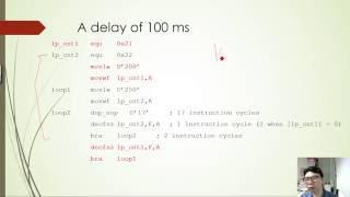 Creating time delays on PIC18 using assembly language