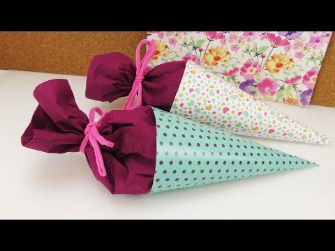 mini-schultüten-basteln-|-back-to-school-|-Überraschung-&-geschenk-fürs-neue-schuljahr