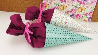Mini Schultüten basteln | Back to School | Überraschung & Geschenk fürs neue Schuljahr