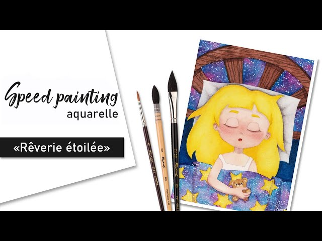 TIMELAPSE - Illustration aquarelle « Rêverie étoilée »