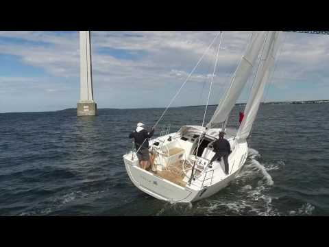 """IY 13 98 ( 47"""") first sail in Newport"""