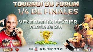 🔴 Quart de finale tournoi forum COC.FR | 20.000 GEMMES EN JEU | Clash of clans