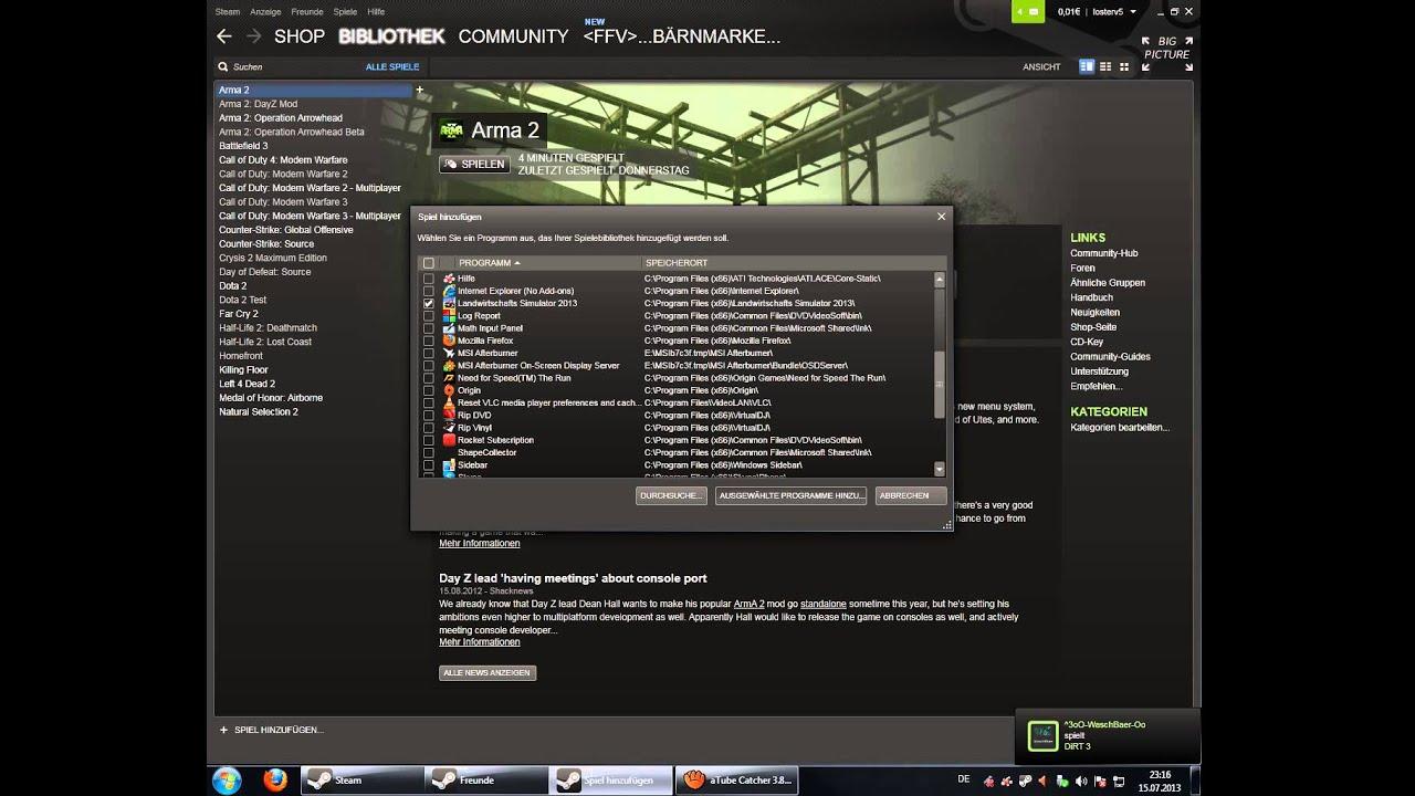 Steam Fremde Spiele Streamen