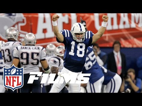 #8 Peyton Manning Finally Beats Tom Brady | NFL Films | Top 10 Playoff Finishes