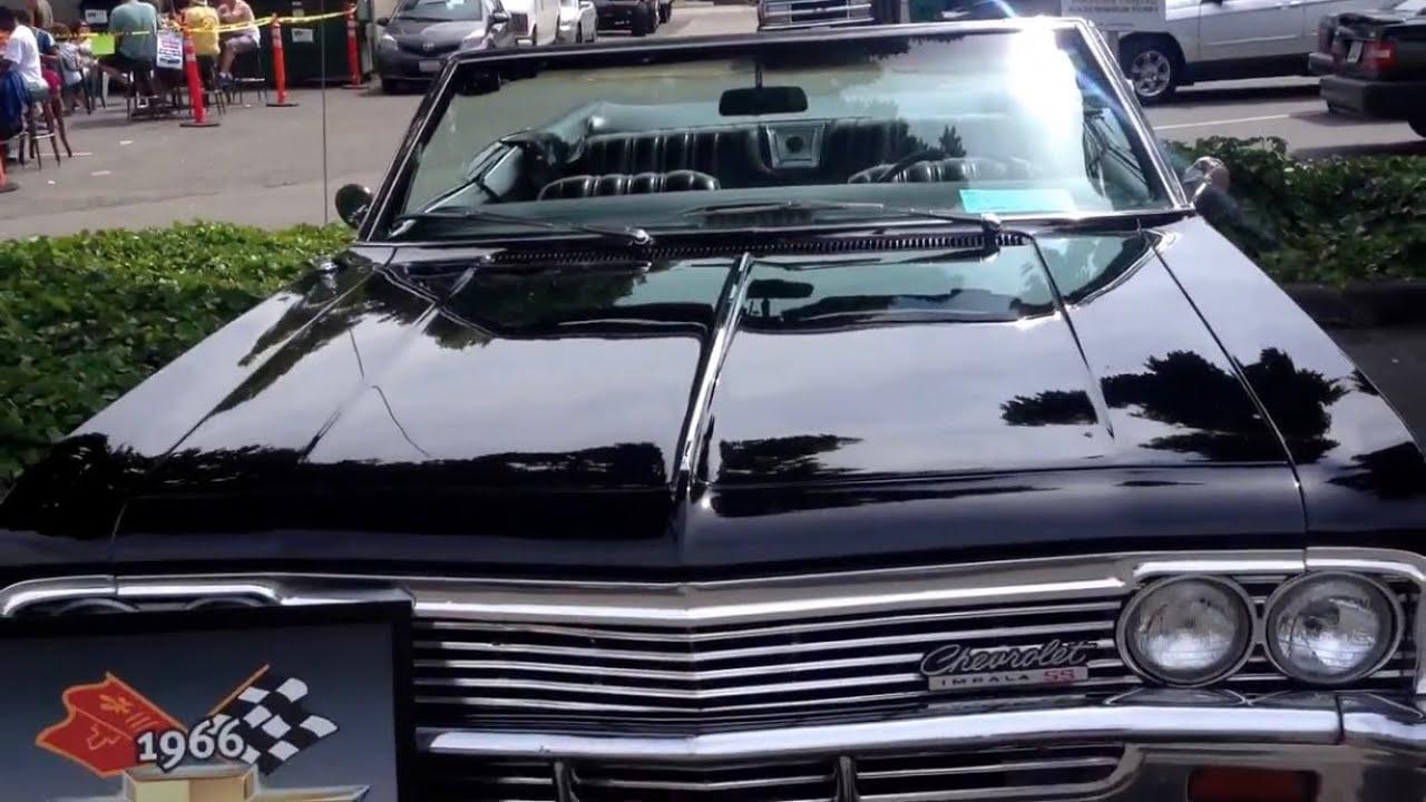 Triple Black 1966 Chevrolet Impala Ss 427 Convertible Youtube Caprice Clic