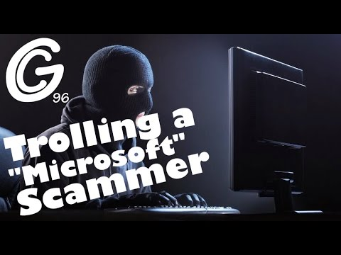 """Microsoft"" Scammer gets Trolled in a VM"