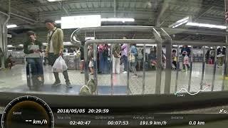 新幹線車窓 by アクションカム(高画質版) のぞみ426号(新大阪→東京、700系B編成、2分の遅れ回復運転有り)