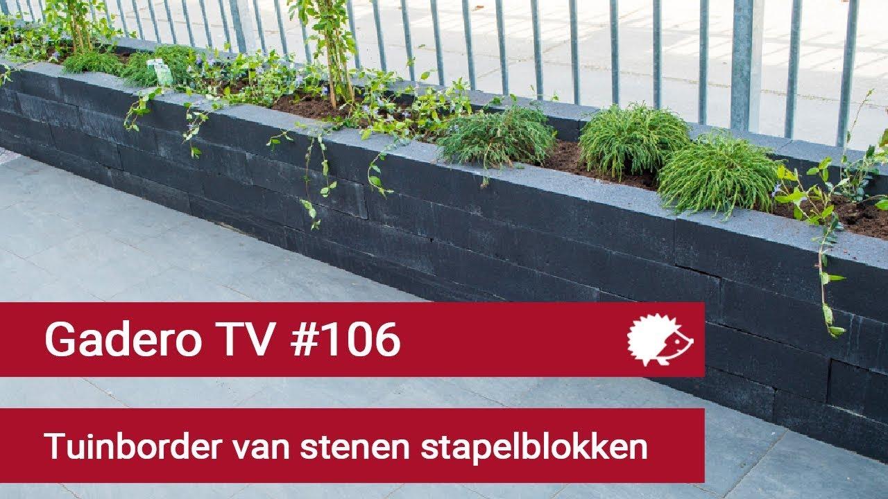 Ongekend 106 Tuinborder aanleggen van stenen stapelblokken - YouTube NC-52