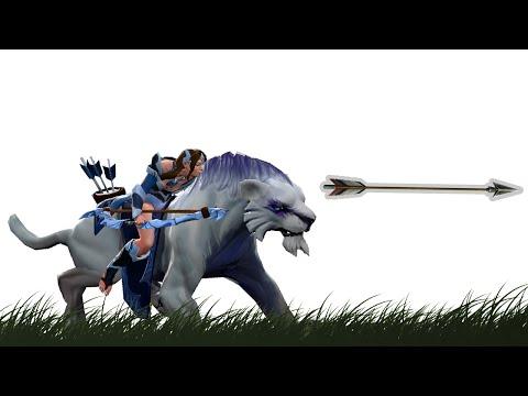 видео: Дота 2. mirana + чтение игры = стрела бога