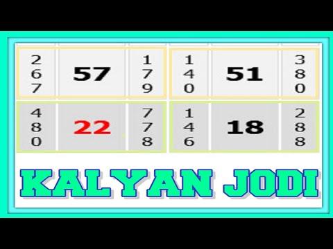 Kalyan Single Jodi Jabardast Trick 07=10=2021 Kalyan Satta Matka