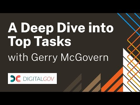 Top Tasks with Gerry McGovern