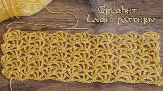 Кружевной узор крючком 🧸 Crochet Lace pattern