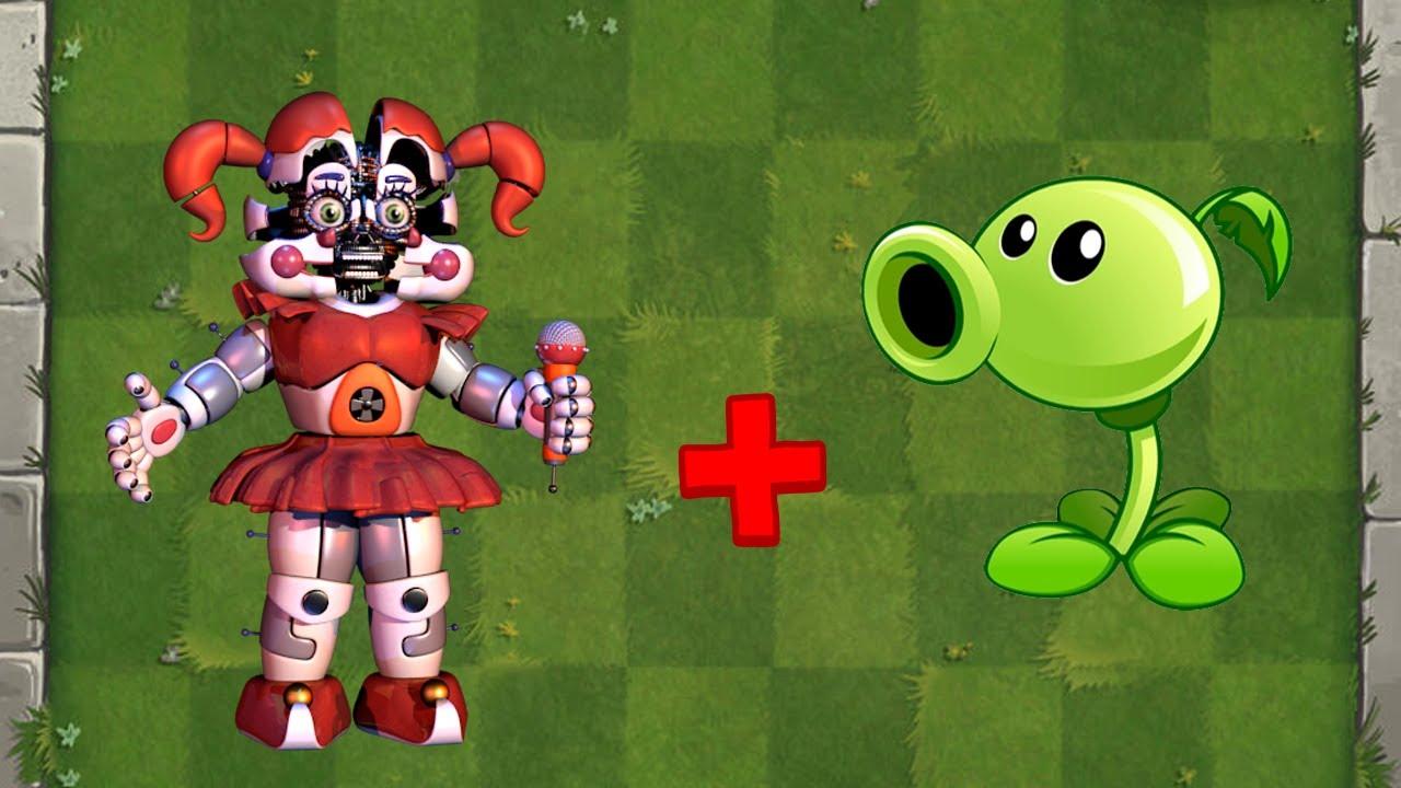 Baby Circus + Peashooter Fusion - Plants vs Zombies Animation